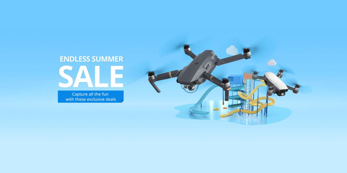 DJI just announced, for a limited time only, theDJI Endless Summer Sale Event with special discounts on various combinations of their products: