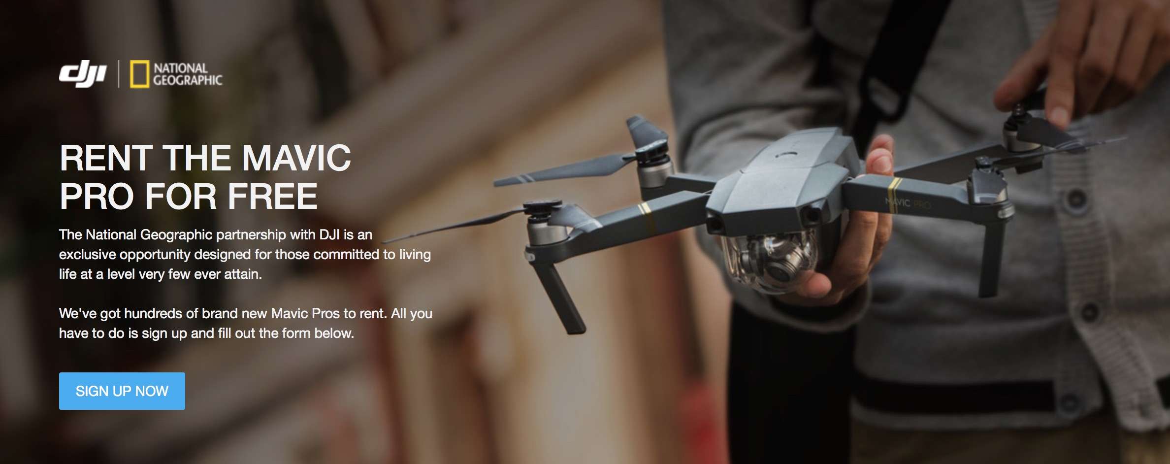 DJI and National Geographic joined forced in photo contest and free drone rental program