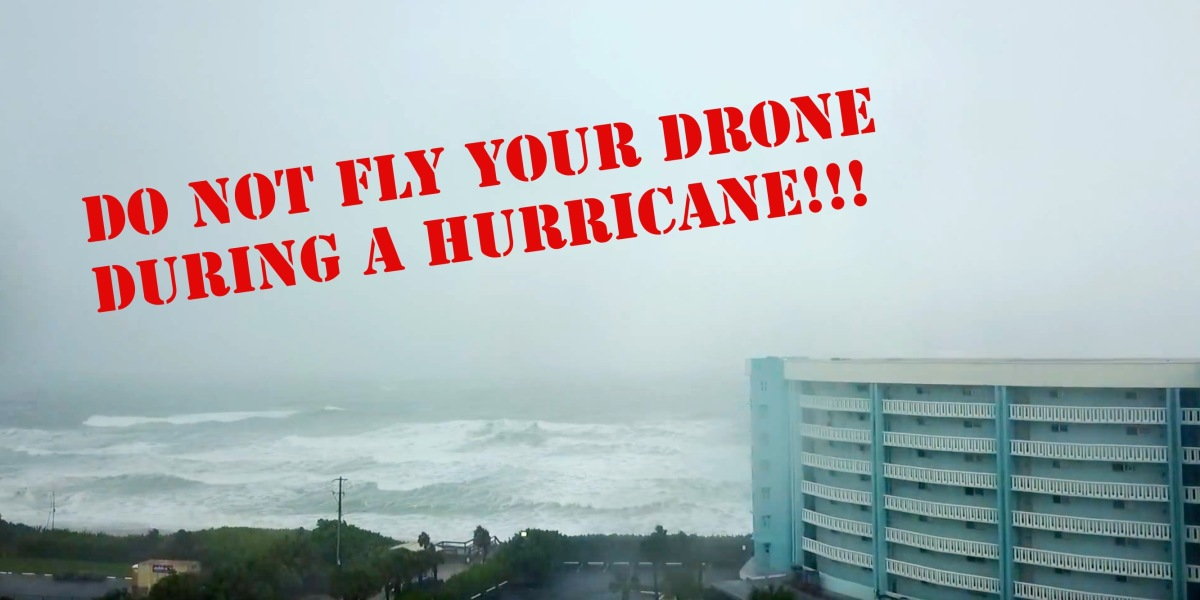 Do not fly your mavic pro drone in hurricane irma in florida