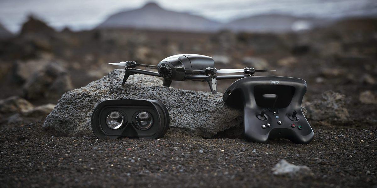 Parrot Bebop 2 Power Cockpitglasses and controller consumer drone dronedj - f