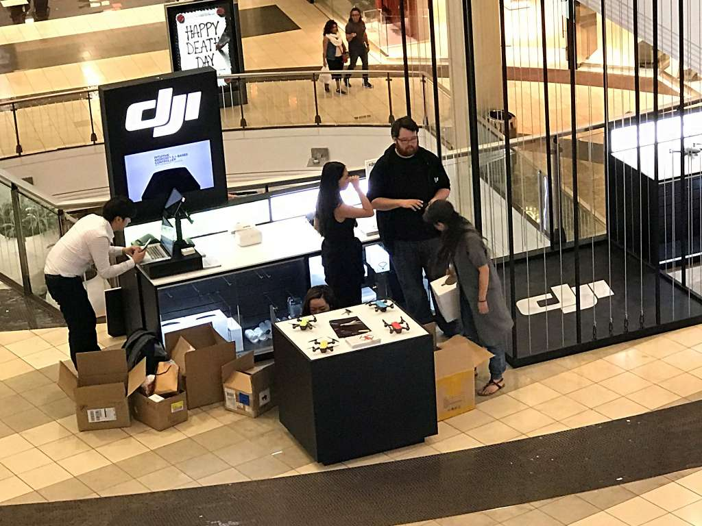 DJI opens second San Francisco store at the Westfield mall