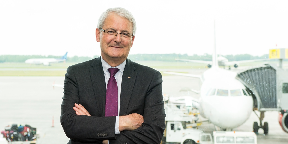 Drone hits passenger plane above Quebec City airport in Canada. The Honourable Marc Garneau, federal Minister of Transport (photo: Alain Denis)