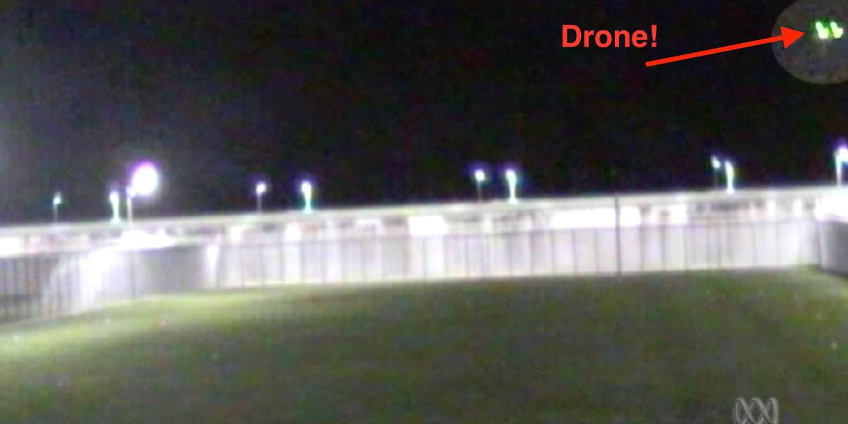 Drone smuggling contraband into Lithgow prison captured on CCTV