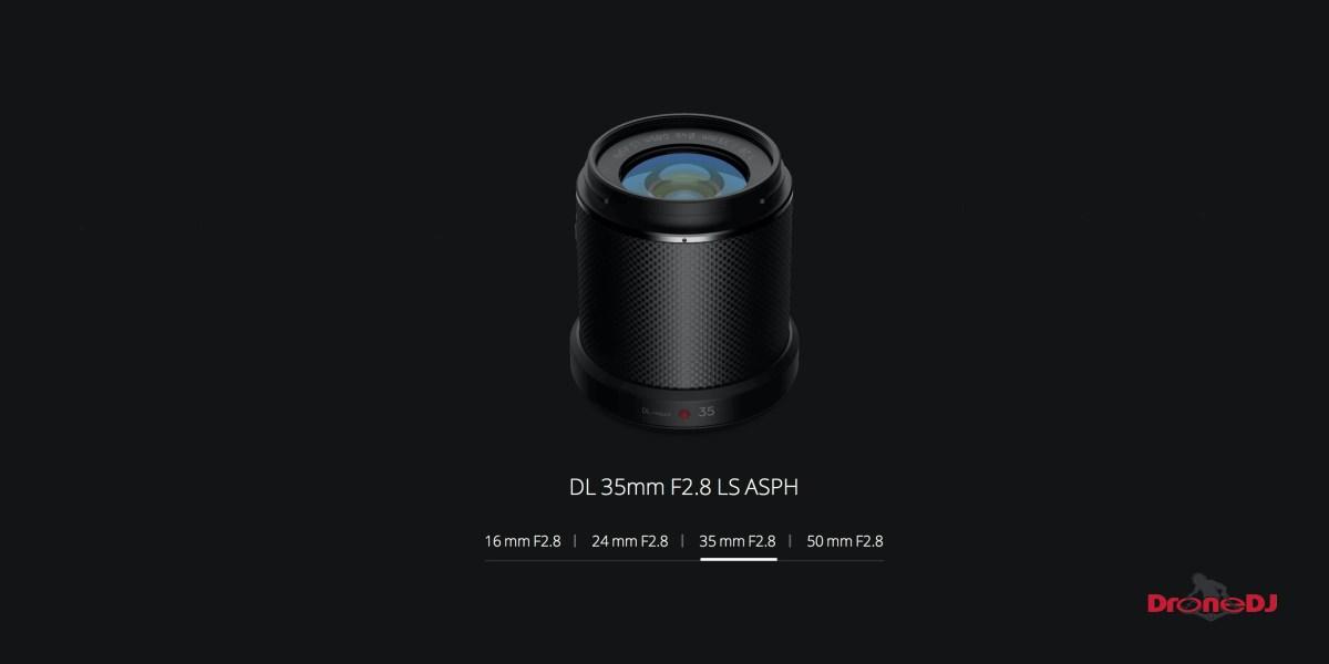 DroneDJ DJI Zenmuse X7 DL 35mm F2.8 LS ASPH Leaf Shutter Lens Feature