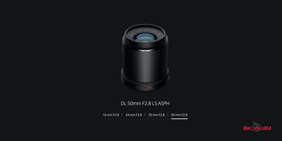 DroneDJ DJI Zenmuse X7 DL 50mm F2.8 LS ASPH Leaf Shutter Lens Feature