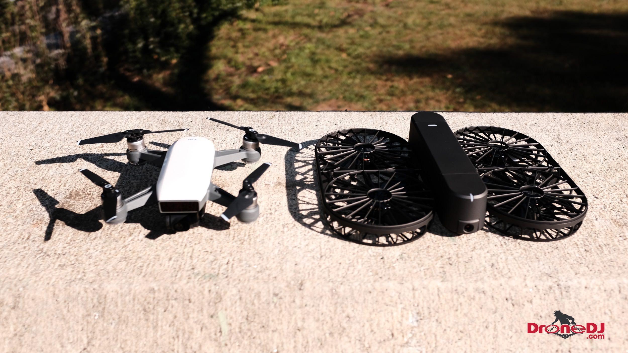 DroneDJ DJI Spark vs Moment Drone Foldable 4K Aerial Camera Drone-6