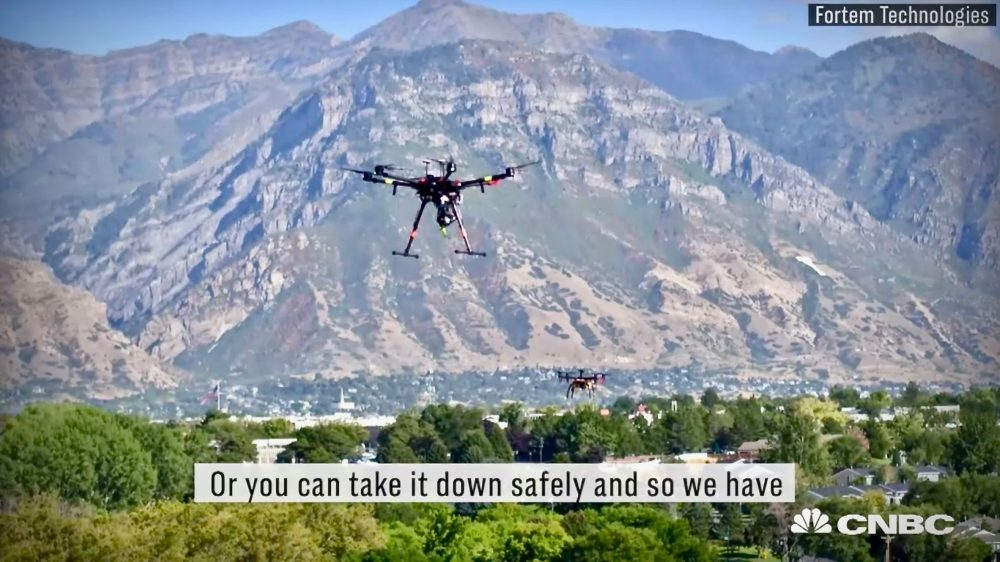 DroneHunter intercepts trespassing drones with radar and net