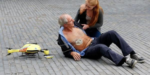 drones defibrillators heart attack