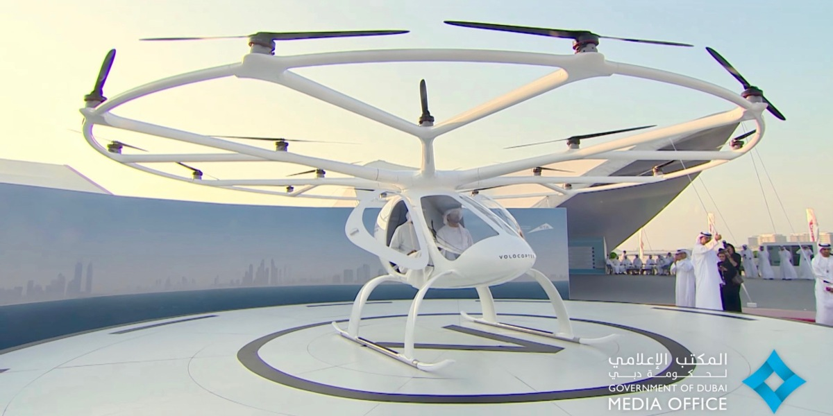 Dubai aims to be first city with flying drone taxis