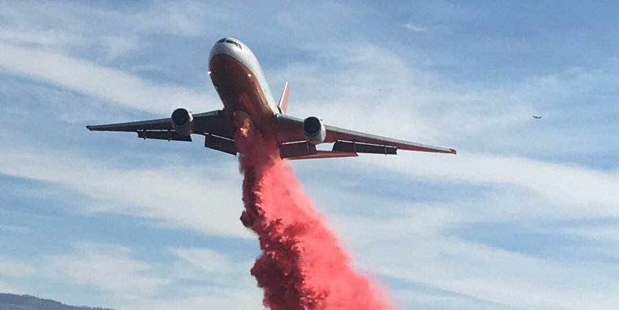 Firefighting air operations briefly suspended after drone sighting