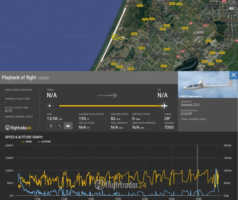 Lange Antares 20E glider was struck by consumer drone 2