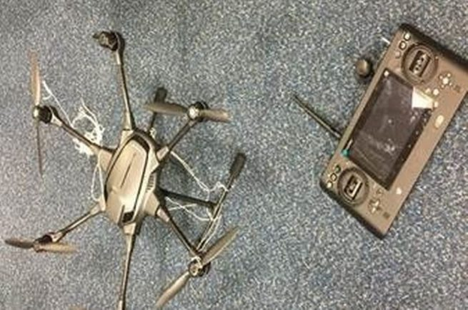 Failed drone drugs drop-off at Walton Prison in Liverpool, England