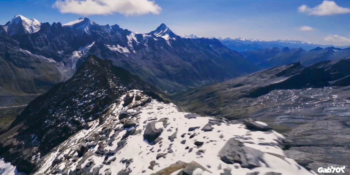 Race drone soars like a bird along Swiss mountain tops [video]