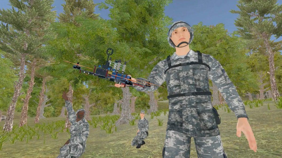 Australian kamikaze drone destroys enemy drones