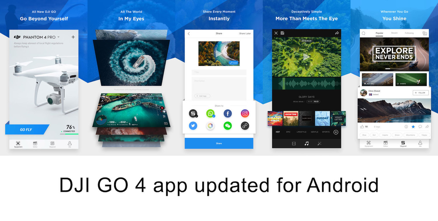 DJI GO 4 app update for Android – Version 4 2 20 - Mavic Air