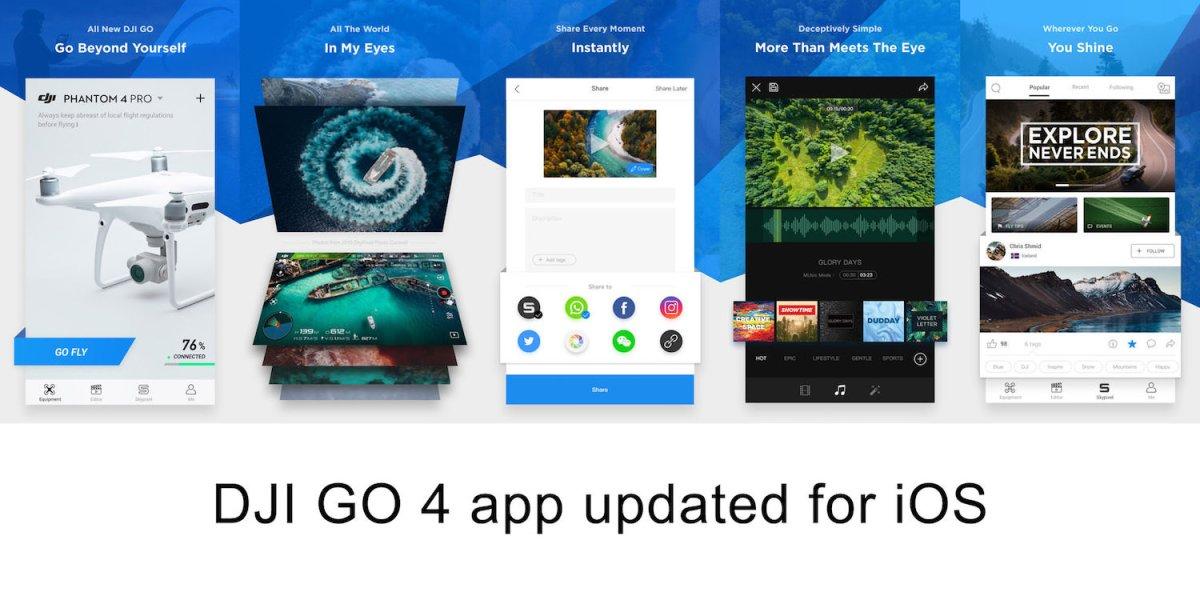 DJI GO 4 app update for iOS – Version 4.1.20