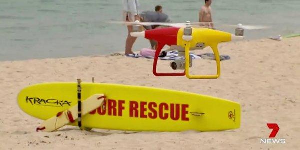 drone flight beaches sharks