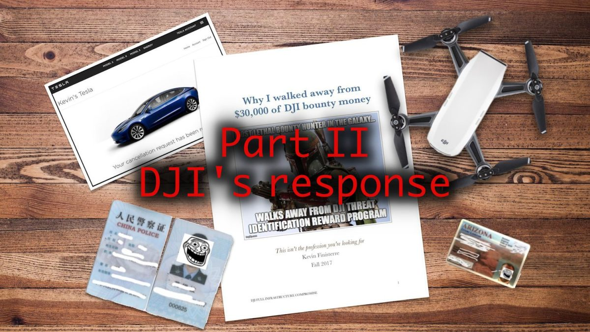 DJI's fires software developers involved in data security breach and responds publicly to Bug Bounty case
