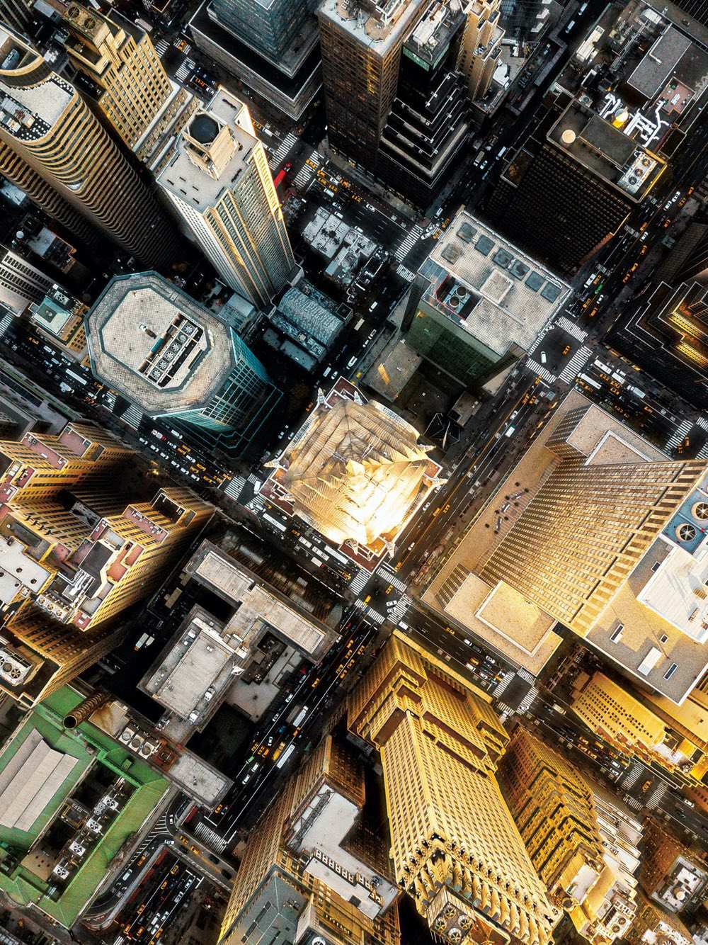 Chrysler Building - Amazing drone photos of New York City looking straight down 0000