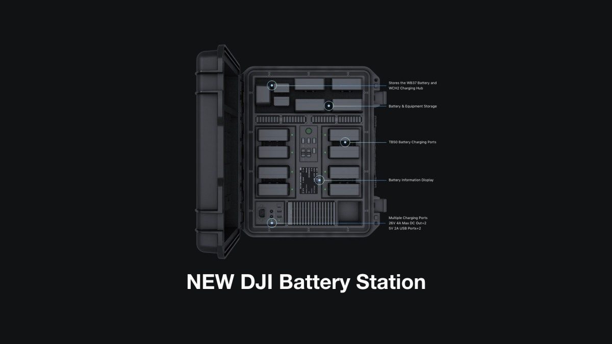 DJI introduces new DJI Battery Station for professional filmmakers