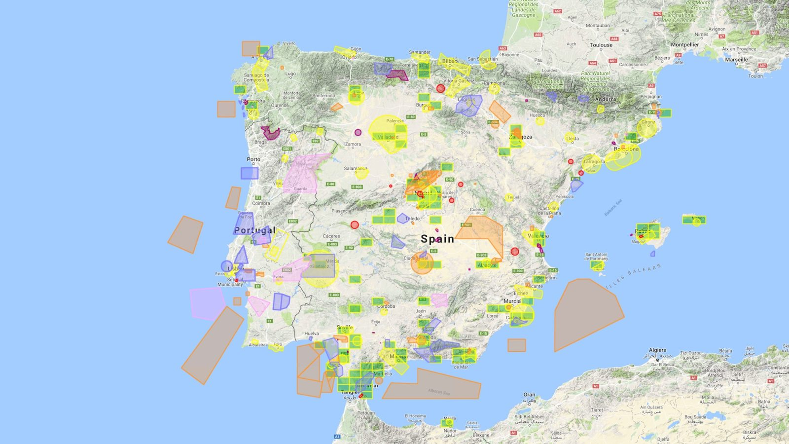 Map Of Tour Of Spain 2017.Flying Your Drone In Spain Drone Regulations Dronedj