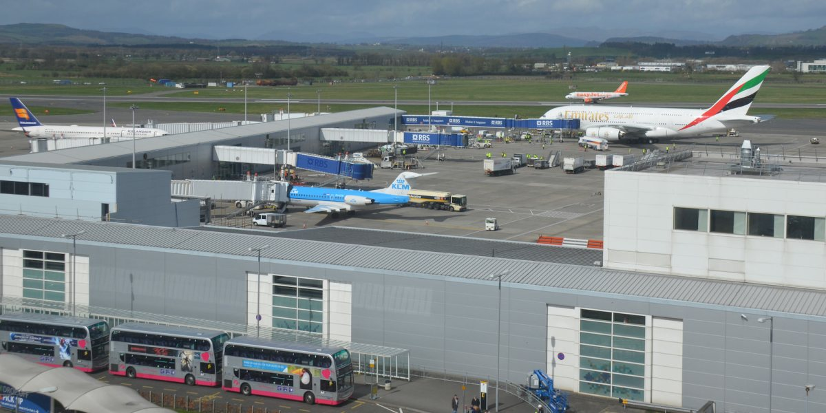 Airplane almost hits drone at Glasgow Airport