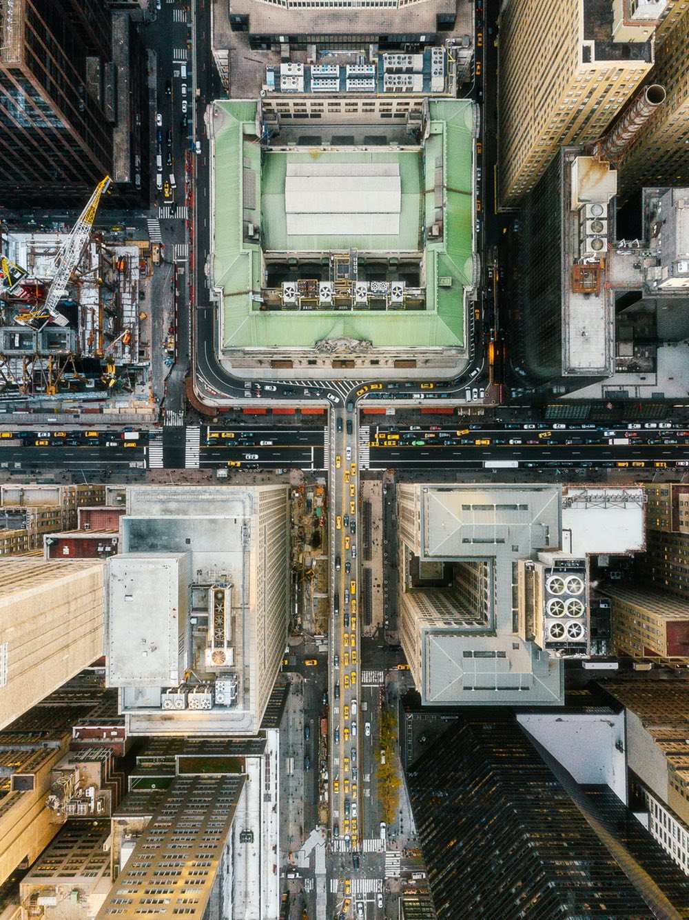 Grand Central Station - Amazing drone photos of New York City looking straight down 0002