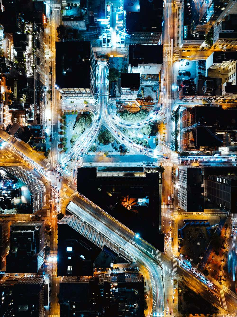 Holland Tunnel - Amazing drone photos of New York City looking straight down 0003