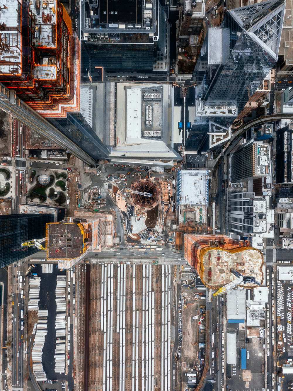 Hudson Yards - Amazing drone photos of New York City looking straight down 0004