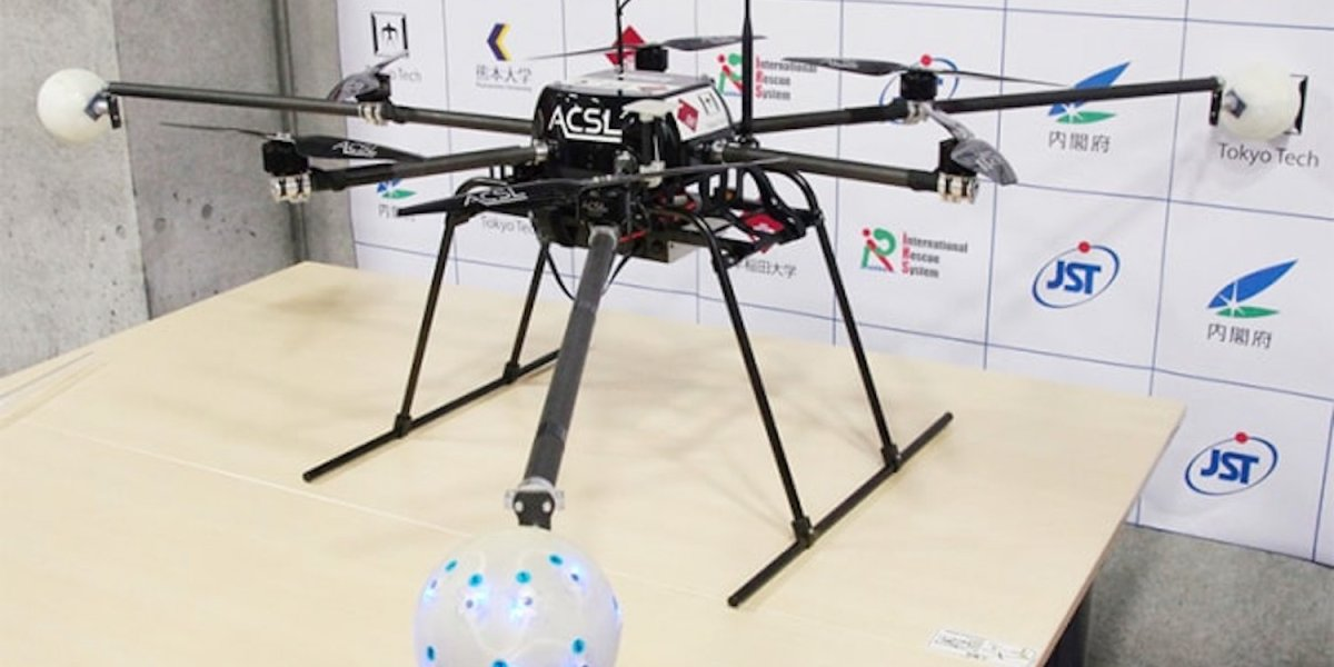 Japanese rescue drone can detect cries for help
