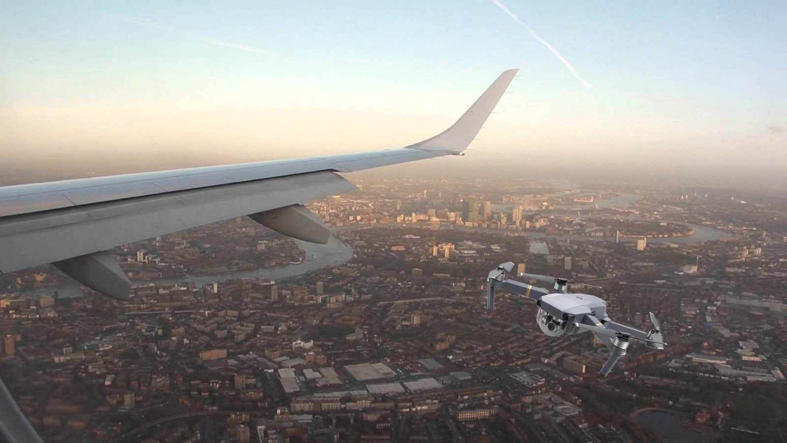 DJI Mavic Type Drone Spotted By London City Airliner Pilot