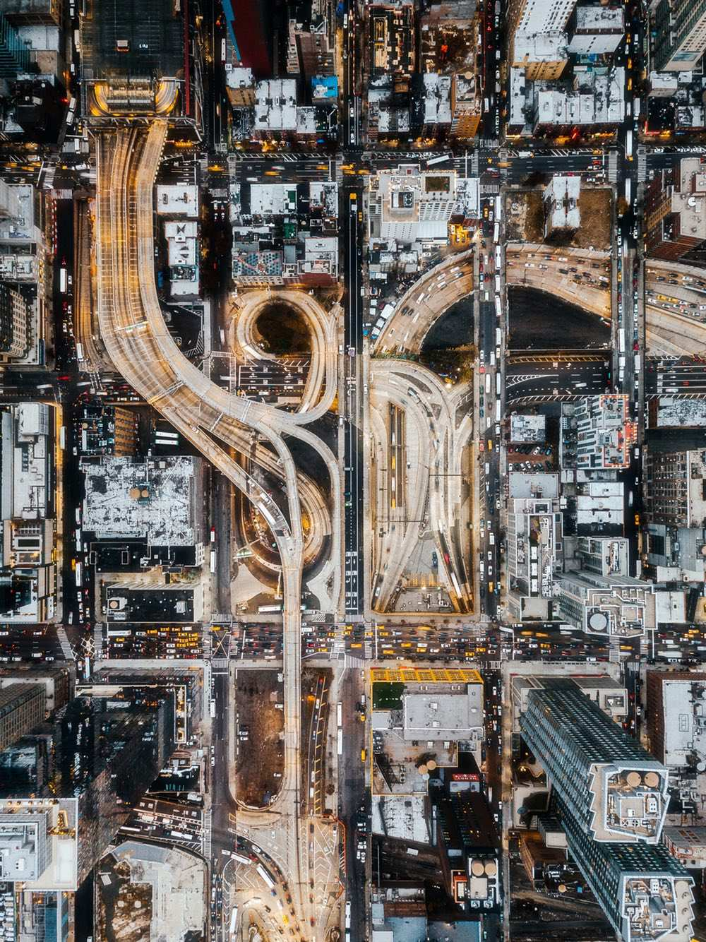 Port Authority Bus Terminal - Amazing drone photos of New York City looking straight down 0005