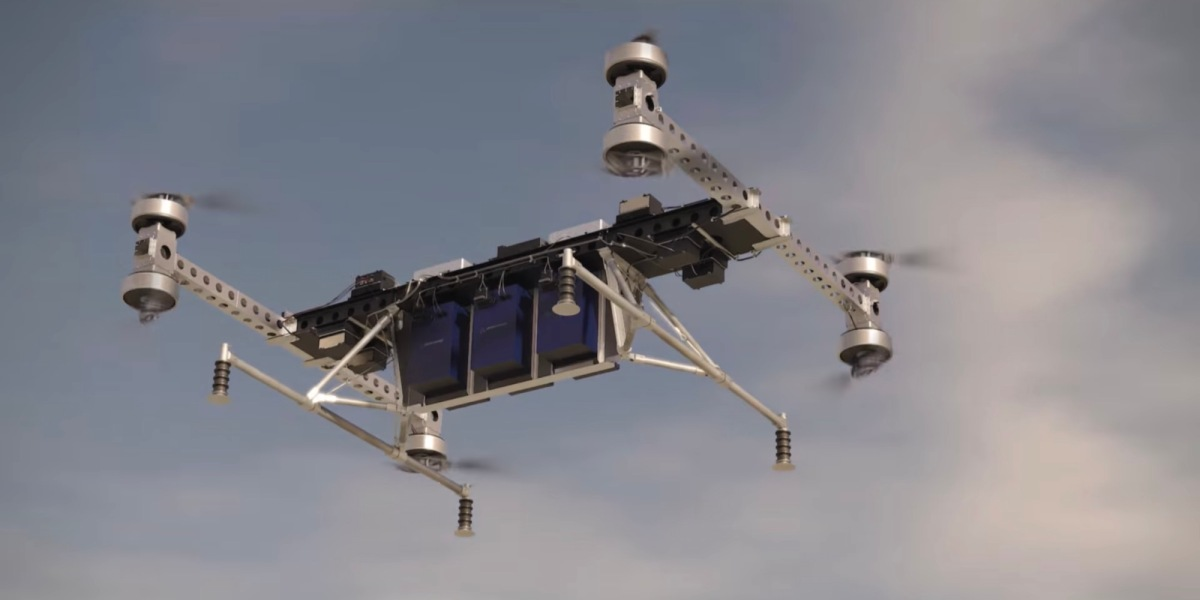 Boeing developed a cargo drone capable of carrying 500 pounds