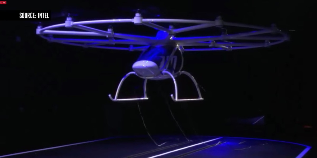 Volocopter VC200 2X made its maiden flight in North America during CES 2018