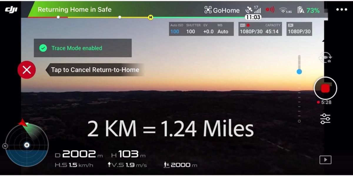 DJI Mavic Air flies 1.25 miles in Texas on 5.8 GHz Wi-Fi band