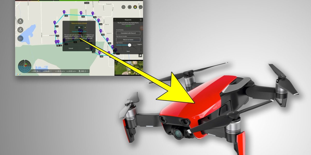 Vote on DroneDJ to get Waypoints back on the DJI Mavic Air - DJI is listening