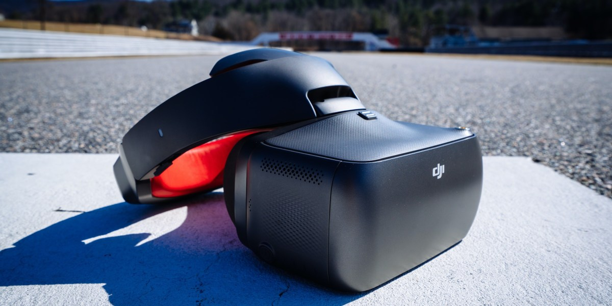 DJI Racing Goggles RE DroneDJ at Lime Rock Park - Race Track Featured