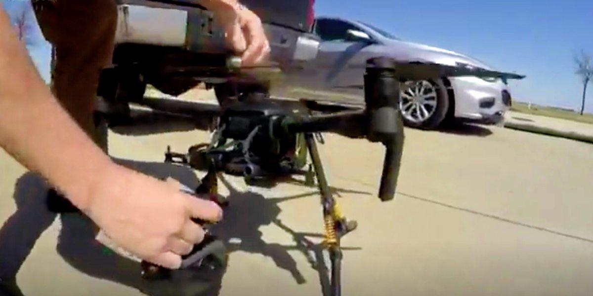 emergencies drone videos