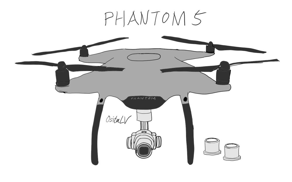 The Phantom 5 may not be available in white but instead come with an aluminum shell