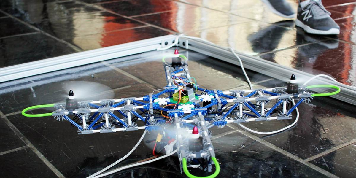 Engineering students dive into the stuff they don't know and build an autonomous drone using K/Nex