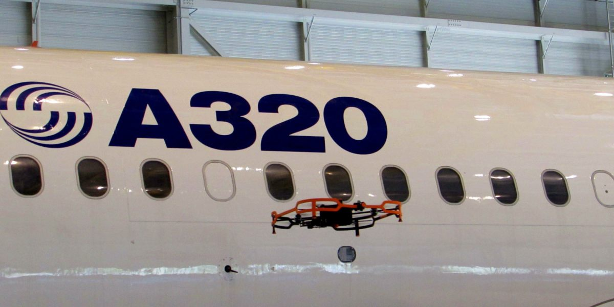 Airbus reveals Advanced Inspection Drone to inspect airplanes in hangars