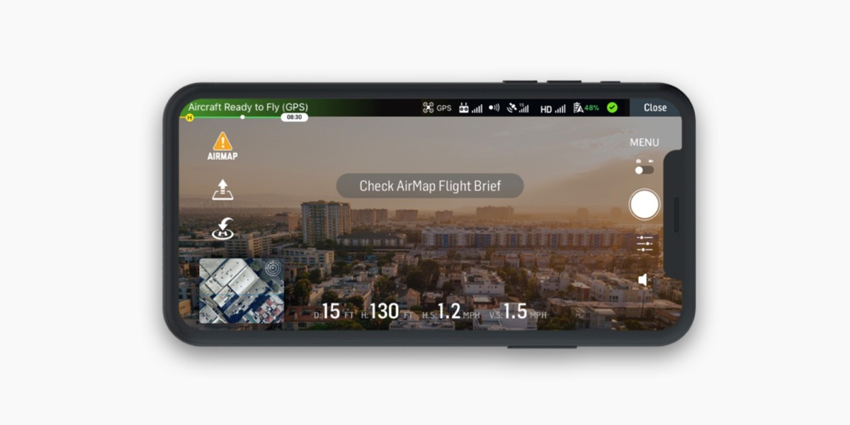 You can now fly your DJI drone directly from the AirMap app for iOS and Android