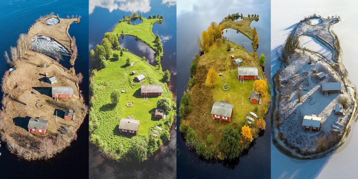The four seasons of Kotisaari Island captured with a drone