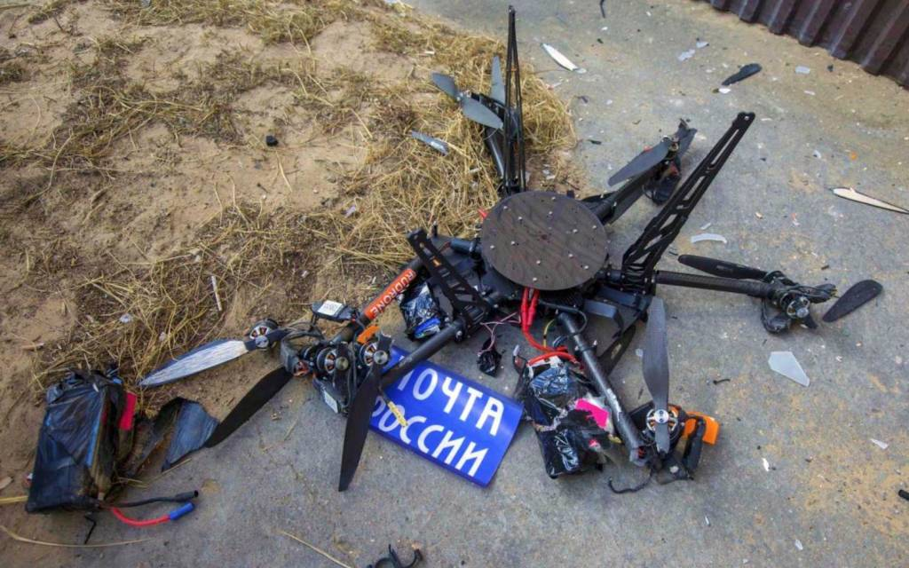 Russian postal drone crashes into a wall during debut flight 0003