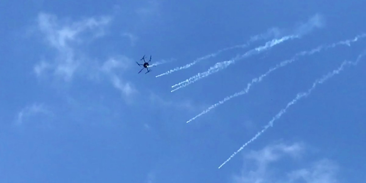 Israeli Defense Forces use drones to drop tear gas on Gaza protesters