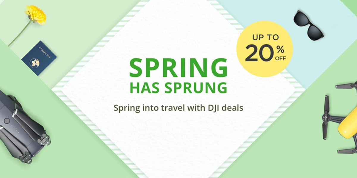 DJI launches spring event with discounts up to 20% off