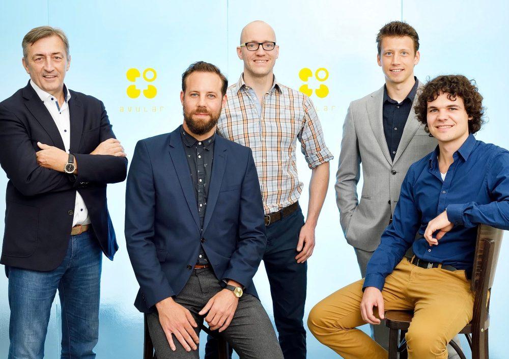 Avular with from left to right: Paul Krieckaert, Albert Maas, Joop aan den Toorn, Tom Krieckaert, Yuri Steinbuch.
