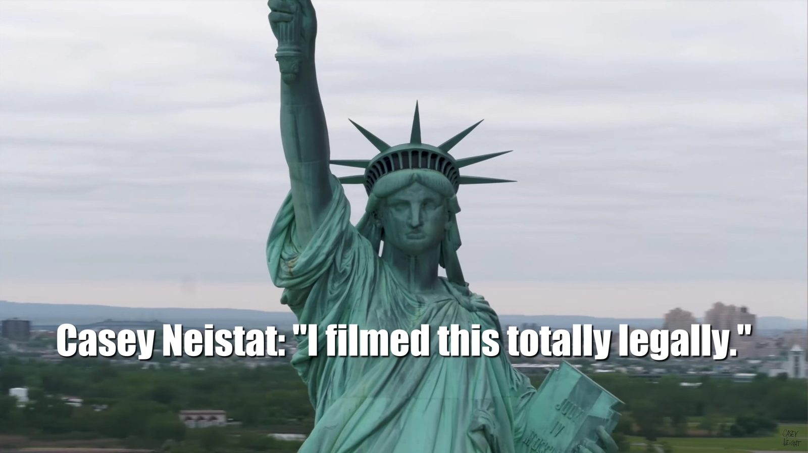 bbdb67a91f Casey Neistat s latest drone video of the Statue of Liberty in New York  ignites discussion over FAA drone rules