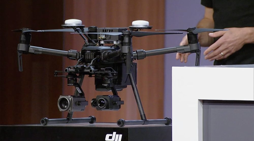 DJI M210 RTK drone with Microsoft Azure IoT onboard at Microsoft Build 2010