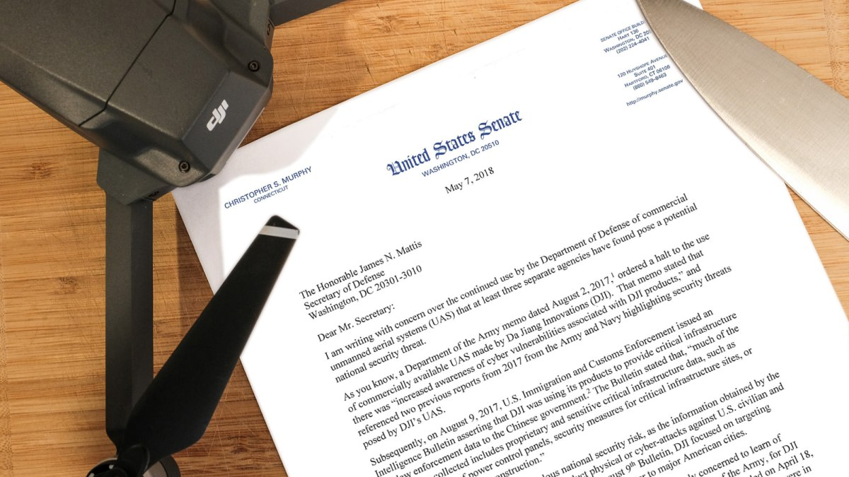Connecticut Gov. Chris Murphy asks the Department of Defense to cut ties with DJI